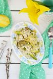 Asparagus and pea risotto Royalty Free Stock Photo