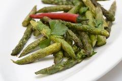 asparagus piec na grillu talerz Fotografia Royalty Free