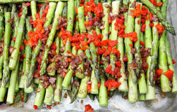 Asparagus with Pimiento Royalty Free Stock Image