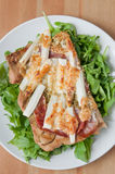 Asparagus Pizza Royalty Free Stock Photo
