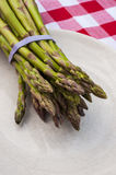 Asparagus on a plate Stock Image