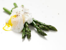 Asparagus poached egg Royalty Free Stock Image