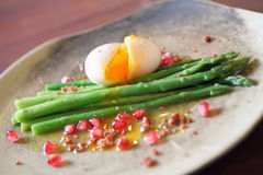 Asparagus With Poached Egg Stock Photography