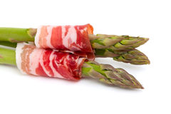 Asparagus and proschiuto meat Royalty Free Stock Photos