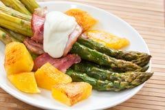 asparagus przygotowywający fotografia stock