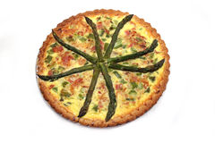 Asparagus Quiche Royalty Free Stock Photos