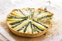 Asparagus Quiche Stock Photos