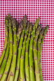 Asparagus on red napkin Royalty Free Stock Photos