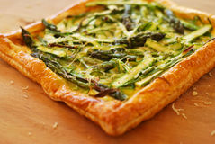 Asparagus ribbon tart Royalty Free Stock Photography