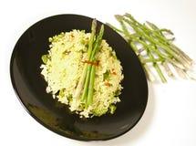 Asparagus rice stock photo