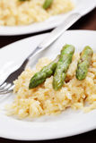 Asparagus risotto Royalty Free Stock Photos