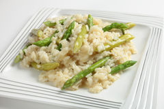 Asparagus risotto plate Stock Photography