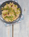 Asparagus  risotto. Asparagus and sun dried tomato risotto Stock Photo