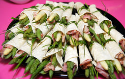 Asparagus rolls Royalty Free Stock Image