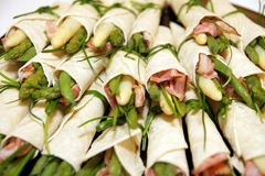 Asparagus rolls Royalty Free Stock Images