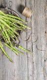 Asparagus rustic wooden background vintage decoration Stock Photos