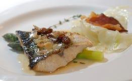 asparagus ryba Zdjęcie Royalty Free