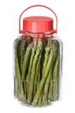 asparagus słoik Obrazy Stock