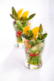 Asparagus salad Stock Images