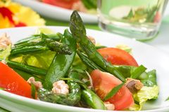 Asparagus salad Stock Photography