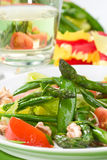 Asparagus salad Royalty Free Stock Images