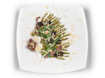 Asparagus salad with anchovies Royalty Free Stock Photos
