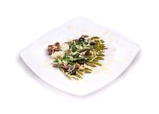 Asparagus salad with anchovies Stock Photos