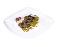 Asparagus salad with anchovies Stock Photo