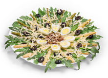 Asparagus salad with anchovies Stock Photography