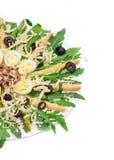 Asparagus salad with anchovies. Stock Photos
