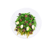 Asparagus salad with anchovies. Stock Image