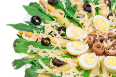 Asparagus salad with anchovies. Stock Photo