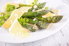 Asparagus salad Stock Images