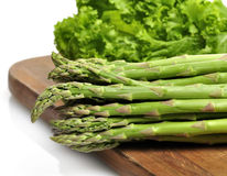 Asparagus And Salad Leaves Royalty Free Stock Image