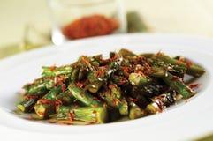 Asparagus salad with saffron Royalty Free Stock Photos