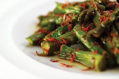 Asparagus salad with saffron Royalty Free Stock Images