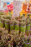Asparagus for sale at they Haymarket, Boston Royalty Free Stock Photo