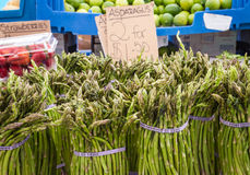 Asparagus for sale at they Haymarket, Boston Stock Images