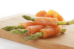 Asparagus and salmon. Royalty Free Stock Image