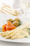 Asparagus with salmon Royalty Free Stock Photo