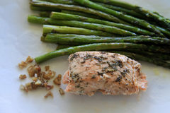 Asparagus and salmon Royalty Free Stock Image