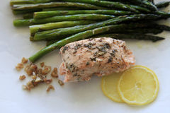 Asparagus and salmon Royalty Free Stock Photo