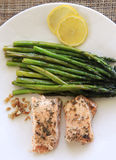 Asparagus and salmon Royalty Free Stock Photography
