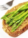 Asparagus sandwich Stock Photo
