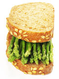 Asparagus sandwich Stock Photos