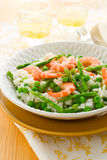 Asparagus shrimp risotto Stock Image