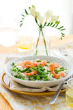 Asparagus shrimp risotto Royalty Free Stock Images