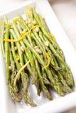 Asparagus sidedish Stock Images