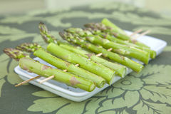 Asparagus on skewers Stock Image