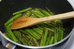 asparagus smażony Zdjęcie Royalty Free